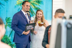 Bride and Groom at the Photo Booth Rental