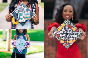 Decorative graduation caps
