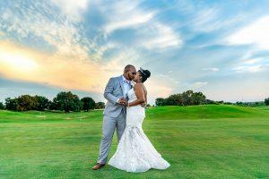 Couples photos on golf course