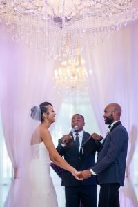 Black Couple at the alter
