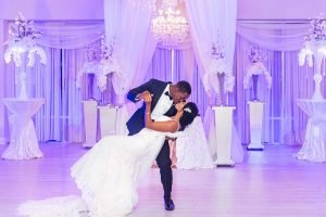 Bride and Groom during their first dance in Clearwater, Florida Wedding
