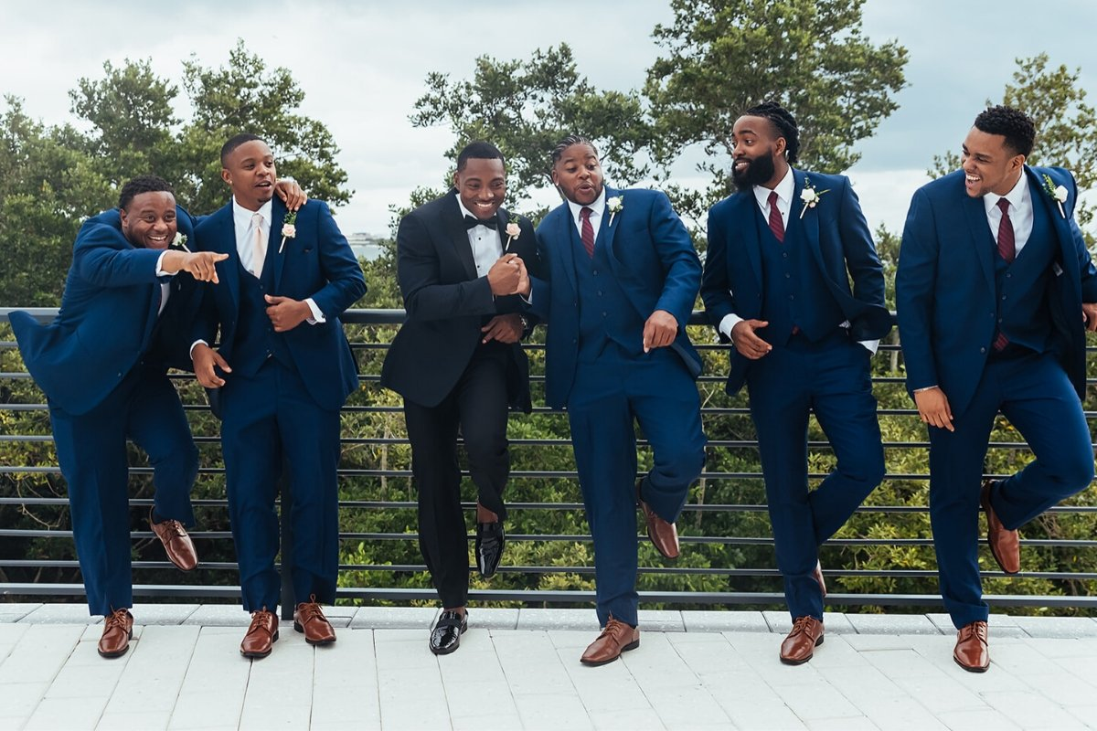 Groomsmen preparing for Wedding