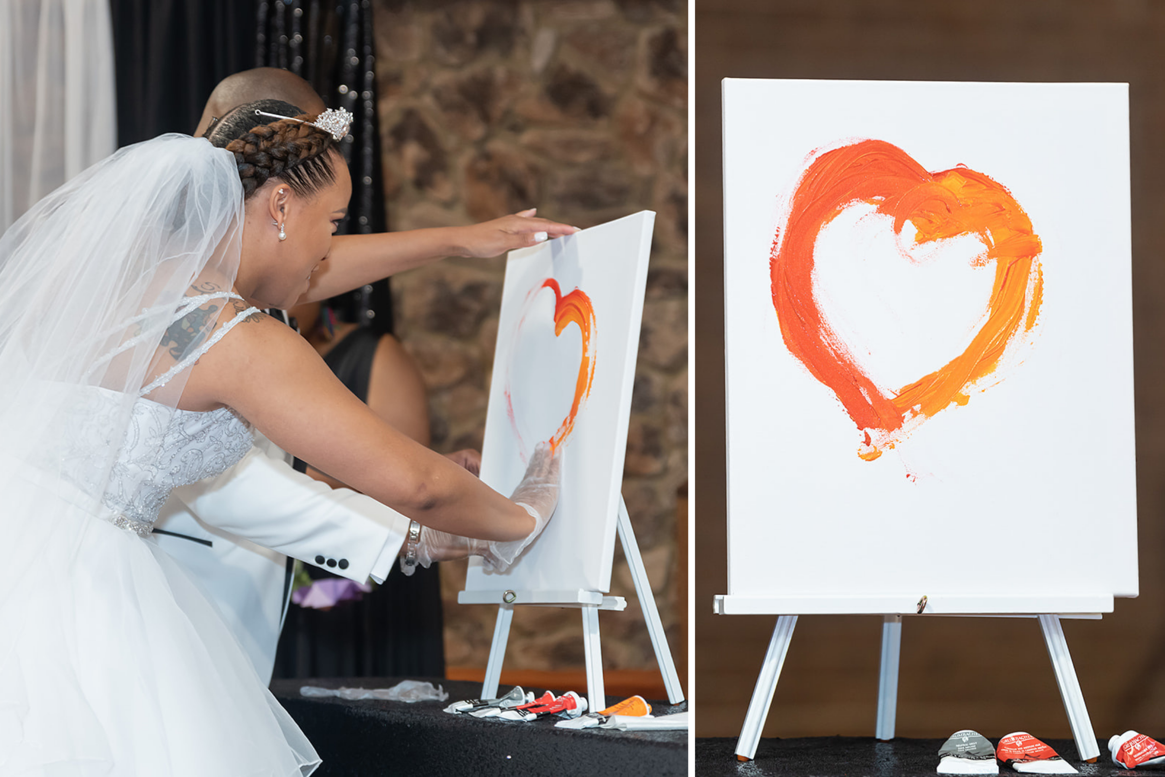 Wedding Traditions Blending Paint
