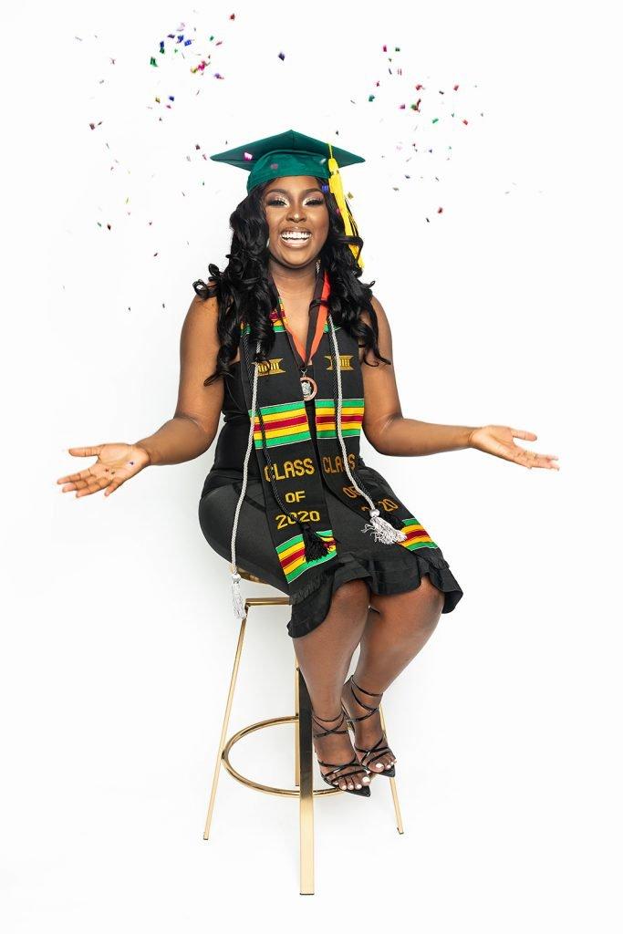 graduation picture black woman