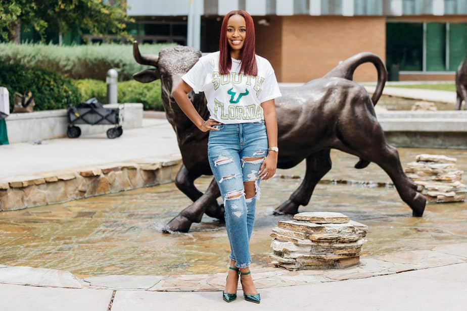 black woman graduating from USF for a florida graduation